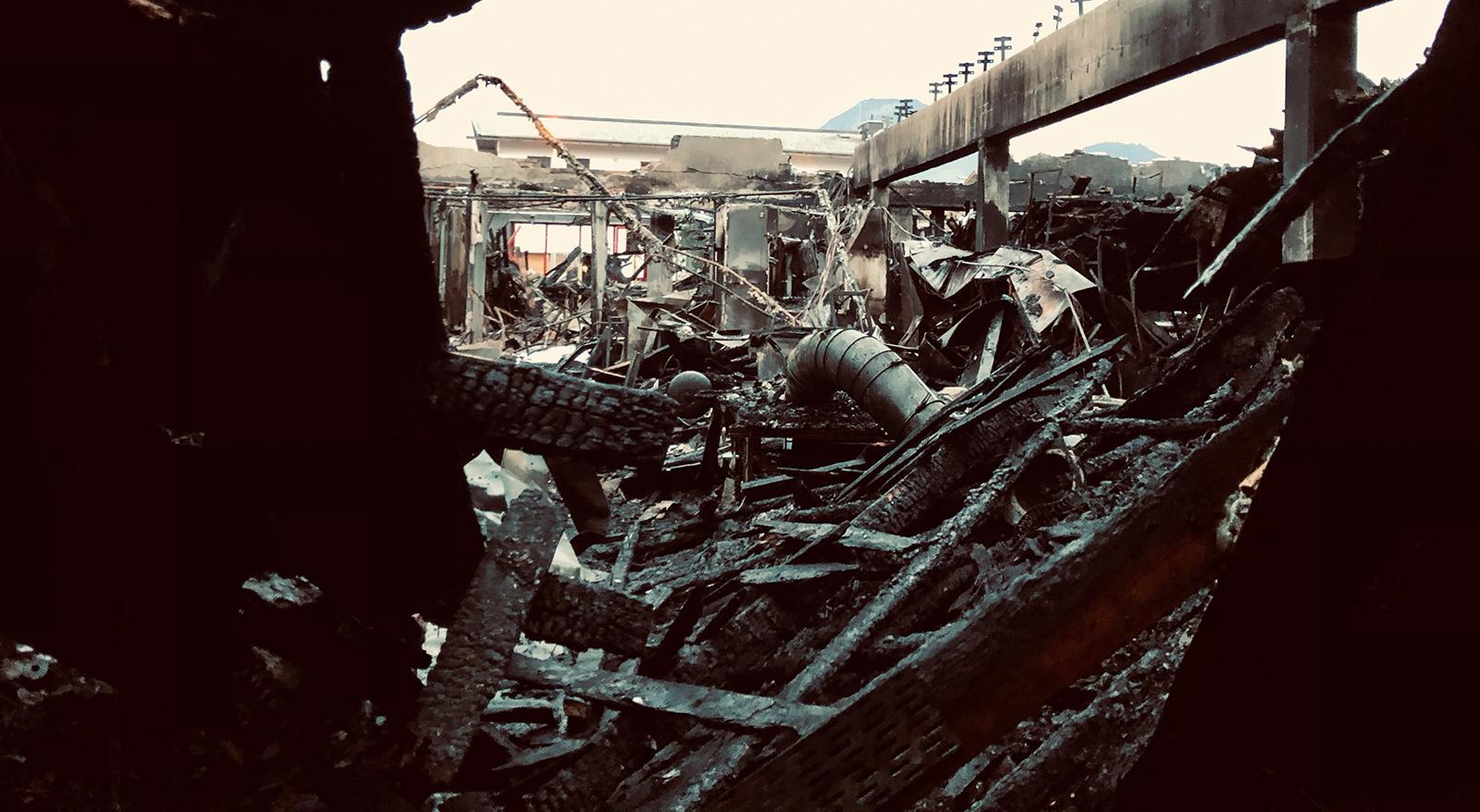 Großbrand bei GEOTEC